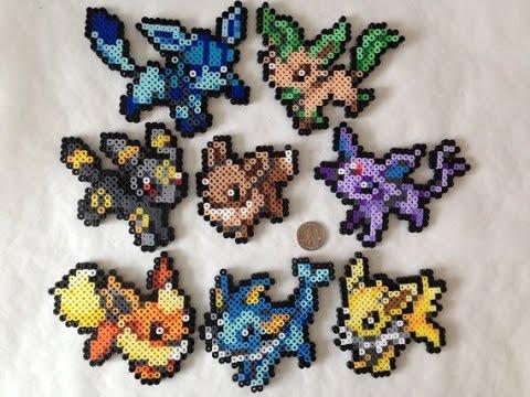 151 Pokemon En Hamaperler Beads 1 Gen Plantilladiseñosprite De Pokemon