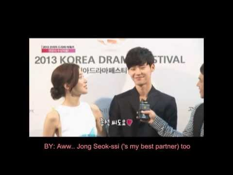 [ENG-SUB] Lee Bo Young & Lee Jong Suk 's Interview for '2013 KDA