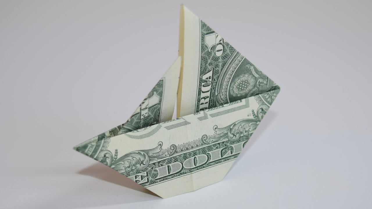 Dollar Origami Ship 1 Dollar Easy Tutorials And How Tos For