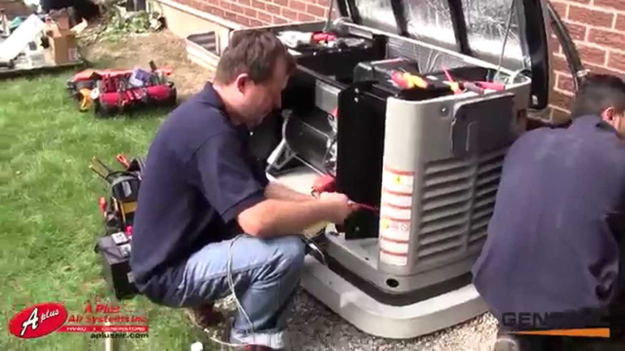 hight resolution of generac 22 kw standby generator installation by aplus air systems inc