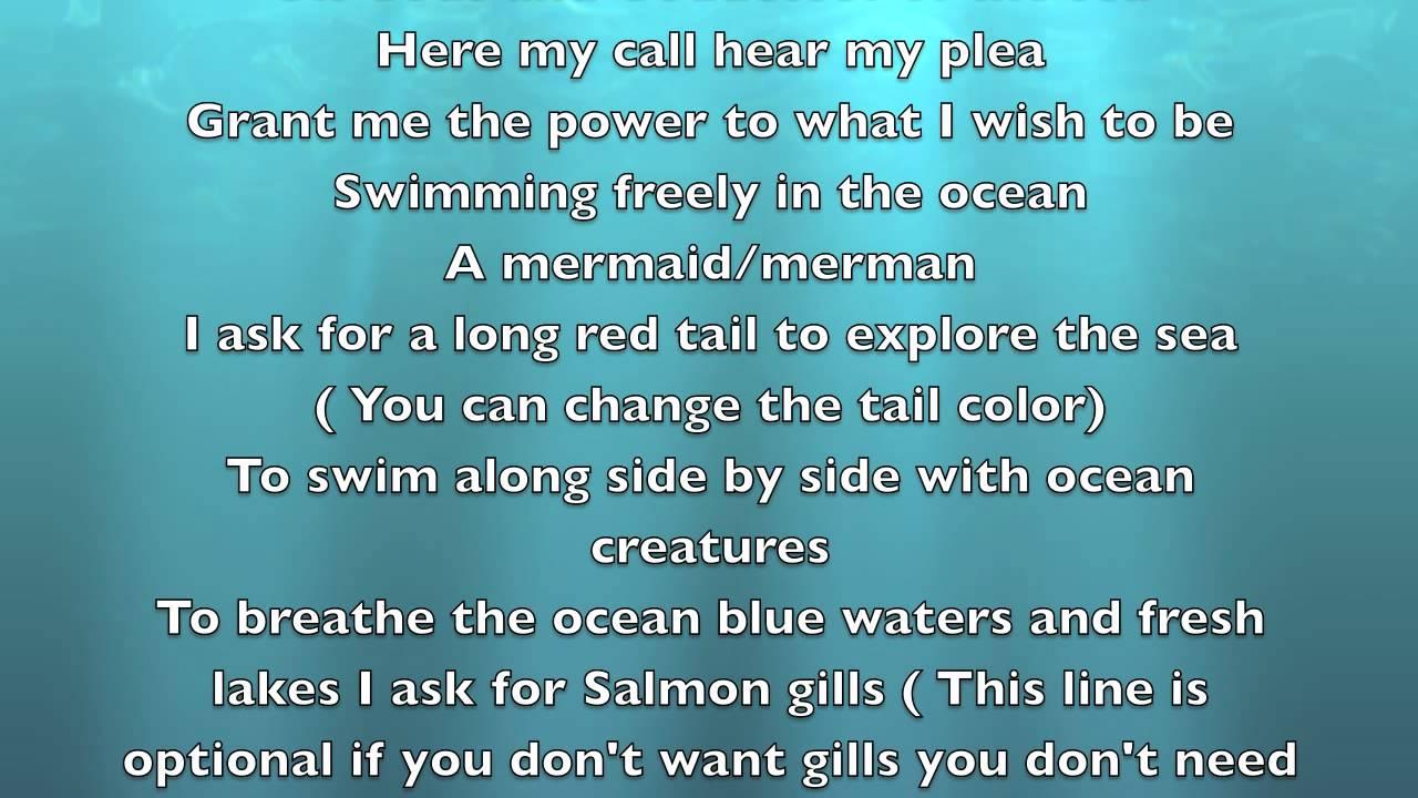 Water Mermaid Spells Touch When