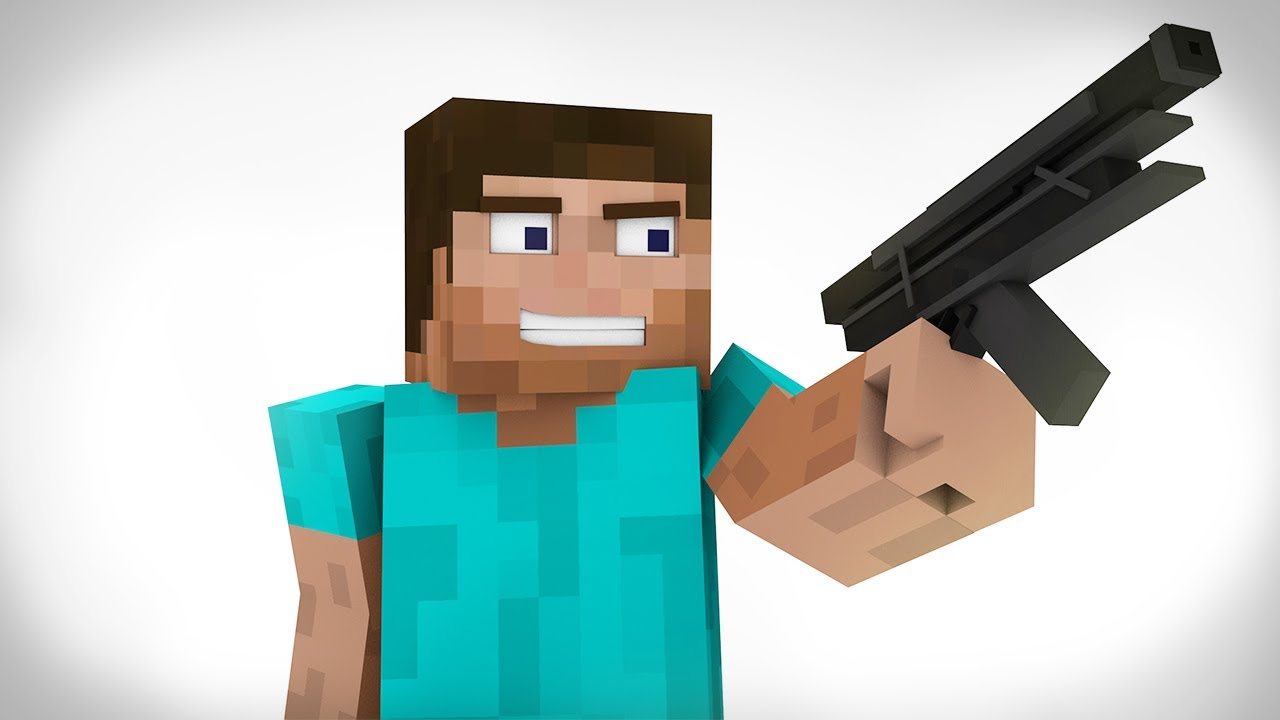 Minecraft Animated Short Steve Finds A Gun 100k Subscribers
