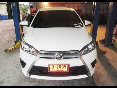 Toyota Yaris Eco 2014 ติดแก๊ส LPG Energy Reform OBD ถังโดนัท โดยโอสุ แก๊ส