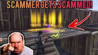ANGRY Kid Nearly Scams Me! (Scammer Gets Scammed) Fortnite Save The World