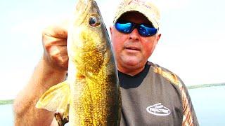 Balsam Lake walleye on Rage grubs
