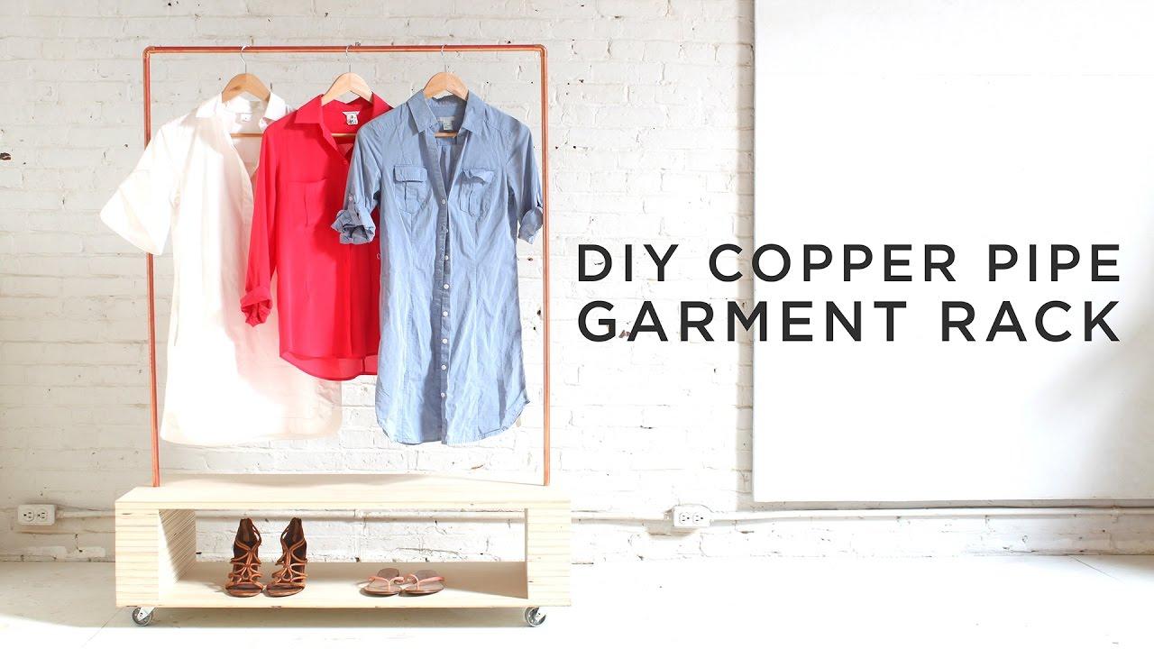 Diy Copper Pipe Garment Rack Youtube