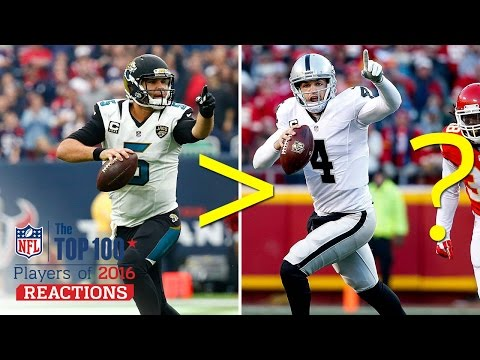 Is Blake Bortles Better Than Derek Carr? | Top 100 Players of 2016 Reaction | NFL Network