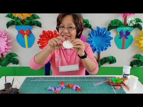 By ครูโบว์ : วิธีทำดอกไม้ โดยใช้ฐานจากถ้วยกาแฟกระดาษ