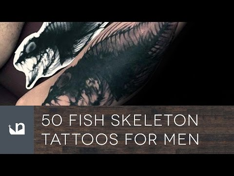 50 Fish Skeleton Tattoos For Men