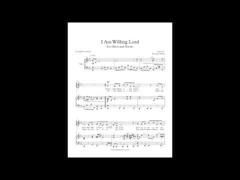 I Am Willing Lord   The Heritage Singers SATB & Piano