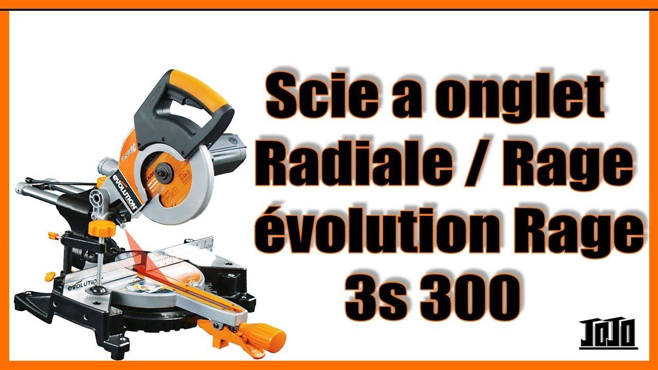 scie onglet radiale evolution rage 3 s leroy merlin youtube. Black Bedroom Furniture Sets. Home Design Ideas