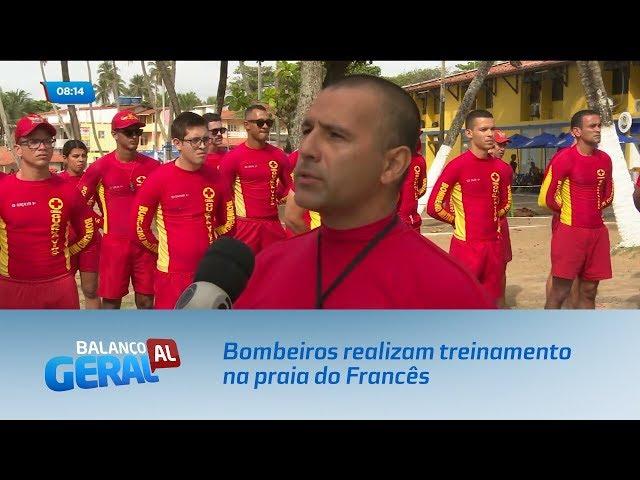 Carnaval: Bombeiros realizam treinamento na praia do Francês