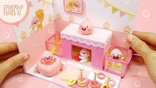 [DIY Miniature ~ little apeach playroom] 어피치 방 시리즈 3탄 ! 복숭아향 가득한 놀이방을 만들어 봅시다.
