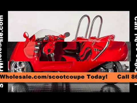 brand new street legal scoot coupe 3 wheel trike scooter car for sale youtube. Black Bedroom Furniture Sets. Home Design Ideas