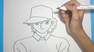 Cara Menggambar GENZO WAKABAYASHI | Menggambar Anime CAPTAIN TSUBASA 2018