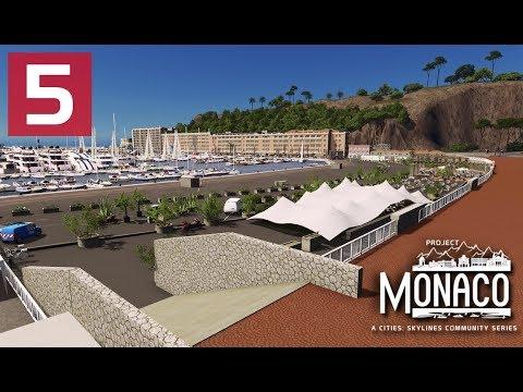Cities: Skylines: Project: Monaco - EP 5 - Port Detailing