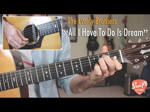 """All I Have To Do Is Dream""  Everly Brothers Guitar & Vocal Harmony Lesson"