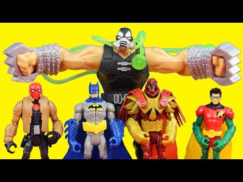 Batman Unlimited Gotham City Bane Battle Robin Dc Comics Red Hood Deathstroke Azrael Imaginext