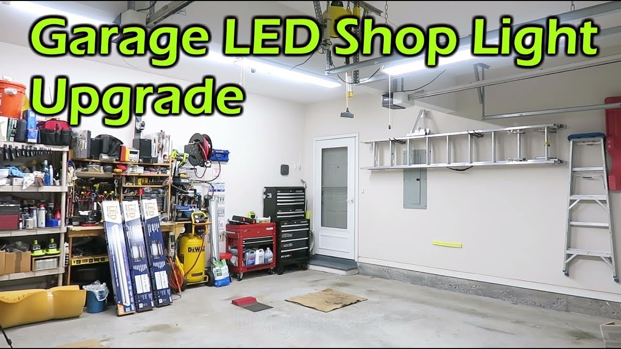 Garage LED Light Upgrade To Brighten the Workspace - YouTube
