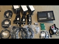 DIY CNC mill controller and 1kW 750W servos from China unpacking.