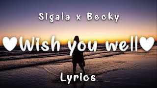 Sigala, Becky Hill - Wish You Well (Lyrics) Video