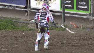 Repeat youtube video Ryan Villopoto vs Clement Desalle with GoPro of RV2 crash MXGP of Trentino 2015 - motocross