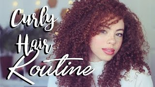 BIG Curly Hair Routine! 2016