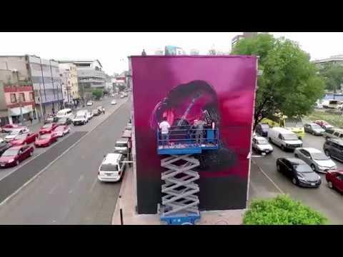 El muro de Harry Styles en la Ciudad de México - Timelapse