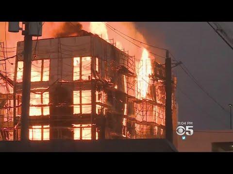 Hundreds Displaced After 4-Alarm Fire Destroys Oakland Construction Project