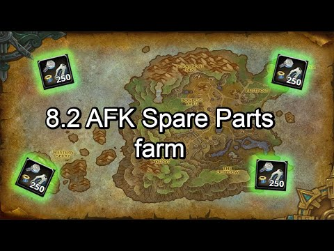 AFK Spare parts farm World of Warcraft 8.2