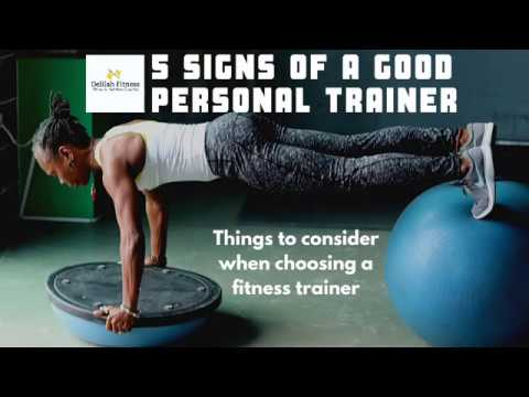 5 signs of a good Personal Trainer