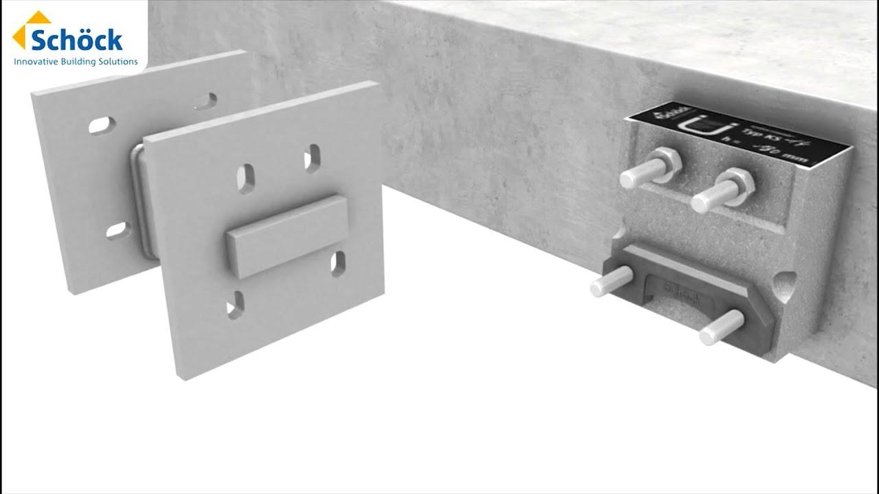 sch ck isokorb ks bouwknoop oplossing beton staal youtube. Black Bedroom Furniture Sets. Home Design Ideas