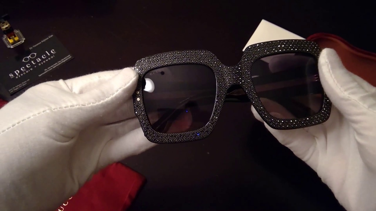 38b5d6feafd Gucci Oversize square-frame rhinestone sunglasses unboxing  Spectacle Las  Vegas Eyecare + Eyewear