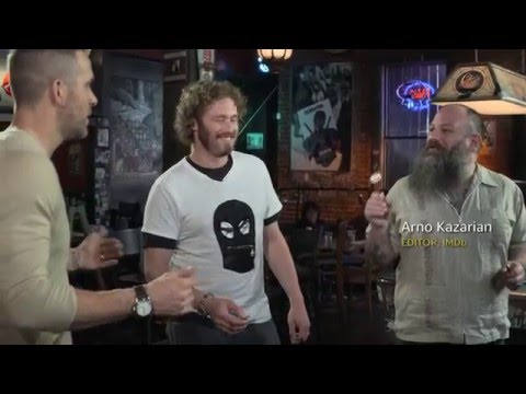 Deadpool Interview Ryan Reynolds and T J  Miller Shoot Darts at Wolverine   IMDb 3