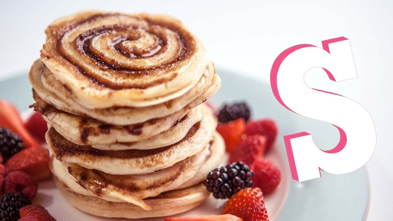 Cinnamon Swirl Pancakes Recipe - YouTube