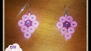 quilling paper earrings DIY ideas craft tutorial / URADI SAM