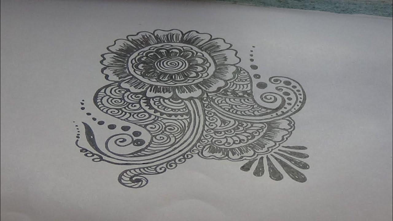 Mehndi Free Hand : Free hand mehndi designs youtube