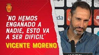 """Vicente Moreno: """"El equipo siempre compite y lo intenta"""""""