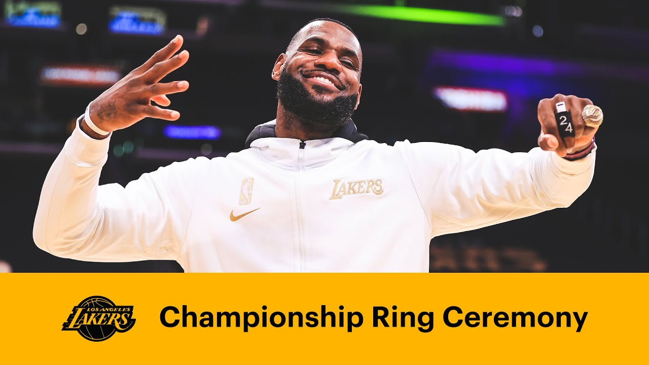 Lakers Receive Their 2020 Championship Rings Full Ceremony Youtube