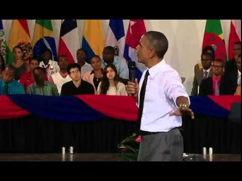 Barrack Obama in Jamaica, answers weed question from Miguel 'Steppa' Williams