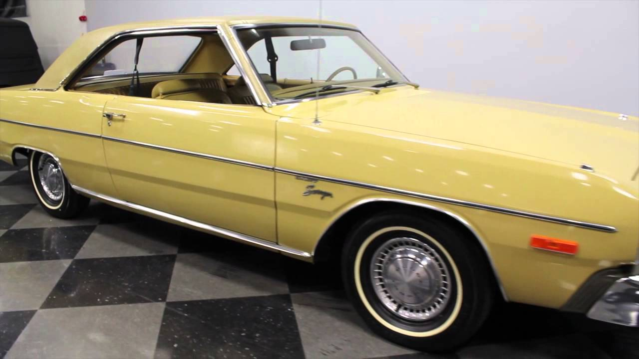 Say she 1969 dodge dart swinger yellow reminds