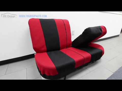 How to split your car bench seat covers with mesh cloth - FH Group Auto ®