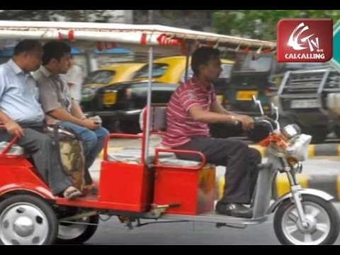 "Macneill Green Vehicle ""Toto"" Hits Kolkata Roads"
