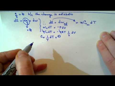 Midterm Rev Q4 adiabatic reversible expansion of perfect gas