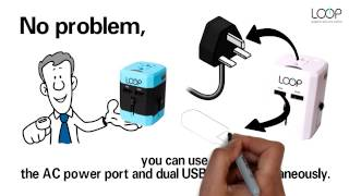 LOOP Electronics World Adapter Plug