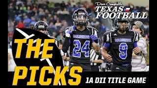 Texas High School Football Predictions –1A DII State Championship