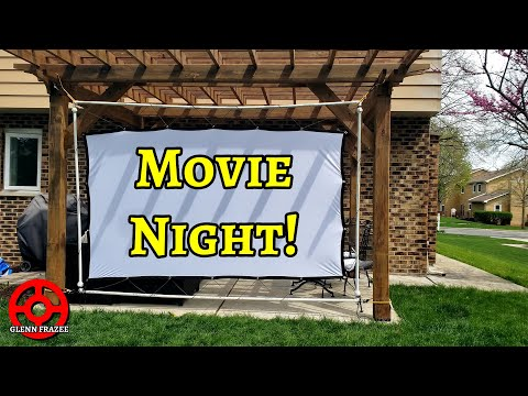 Inexpensive, Collapsible Projector Screen Frame | Backyard Movie Night