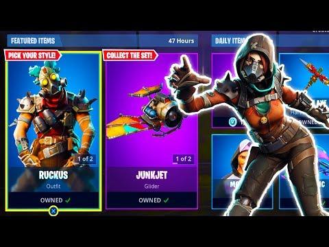 """NEW """"Ruckus"""" + """"Mayhem"""" FORTNITE SKINS GAMEPLAY! (Fortnite Battle Royale) thumbnail"""