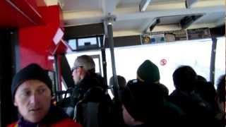 Aiguille du Midi - Cable Car Final Approach & Crazy Skier !!! HD [Canon Powershot SX260 HS]