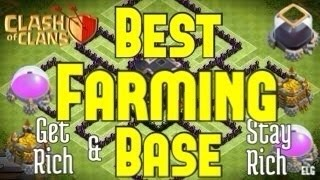 Clash Of Clans Farming Base - Town Hall Level 9 - Get Rich And Stay Rich!